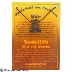 Sodalith Bär, Sternzeichen, Edelsteine, Heilsteine