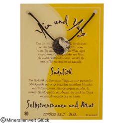 Sodalith Yin Yang, Sternzeichen, Edelsteine, Heilsteine