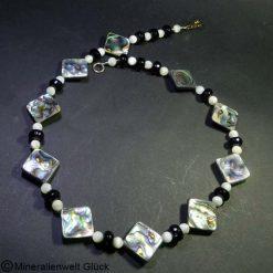 Pauashell - Perlmutt - Achatkette, Mineralien, Edelsteine, Heilsteine