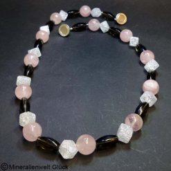Rosenquarz - Bergkristall - Rauchquarz, Mineralien, Edelsteine, Heilsteine
