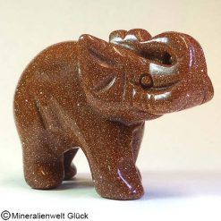 Edelstein Elefant Goldfluss, Tierfiguren, Mineralien, Edelsteine, Heilsteine