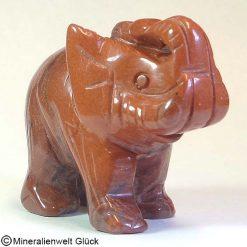 Elefant Jaspis rot, Tierfiguren, Mineralien, Edelsteine, Heilsteine