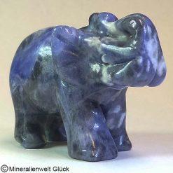 Edelstein Elefant Sodalith, Tierfiguren, Mineralien, Edelsteine, Heilsteine