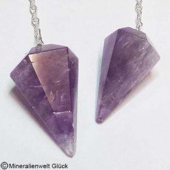 Amethyst Pendel, Edelsteine, Mineralien