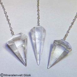 Bergkristall Pendel, Edelsteine, Mineralien