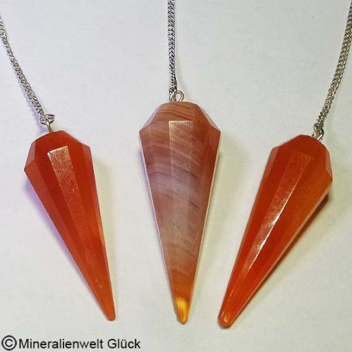 Carneol Pendel, Edelsteine, Mineralien