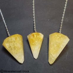 Citrin Pendel, Edelsteine, Mineralien
