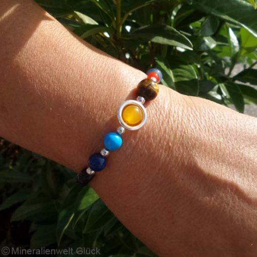 Sonnensystem Armband, Edelsteine, Mineralien