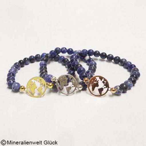 Mutter Erde Sodalith, Armbänder, Edelsteine, Mineralien