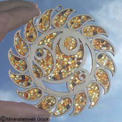Bernstein Sonnensymbol, Edelsteine, Mineralien