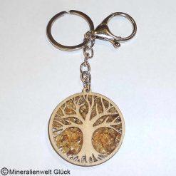 Schlüsselanhänger Baum, Edelsteine, Mineralien