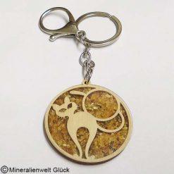Schlüsselanhänger Katze, Edelsteine, Mineralien