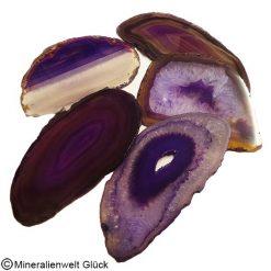 Achatscheiben lila, Edelsteine, Mineralien