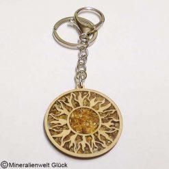 Schlüsselanhänger Sonnensymbol, Edelsteine, Mineralien