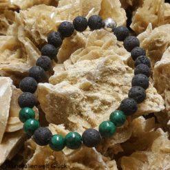 Männerarmband Lava, Edelsteine, Heilsteine, Mineralien