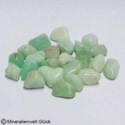 Chrysopras Trommelstein, Edelsteine, Heilsteine, Mineralien